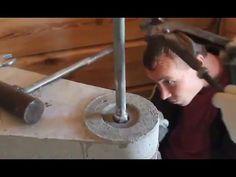 Сборка бетонной лестницы в деревянном доме (Веретено 800 мм.)