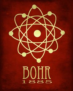 11x14 Science Art Print Atomic Structure Niels Bohr Nucleus Steampunk Rock Star Scientist Poster Geek Chic Decor Nerd Scientific Diagram. $21.00, via Etsy.