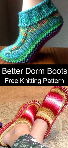 Knitting Designs, Knitting Patterns Free, Free Knitting, Baby Knitting, Knitting Ideas, Crochet Pattern Free, Easy Knitting Projects, Knitting For Kids, Knit Slippers Free Pattern