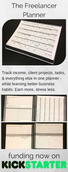A planner created just for freelancers like you. Back it now at Kickstarter! #organization #productivity #freelancing