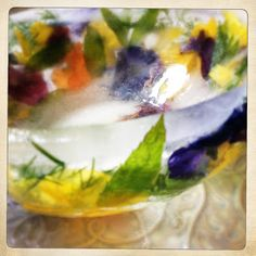 Slice Of Slim: INSPIRATIONAL FIND! : Edible Flowers & Ice Bowl