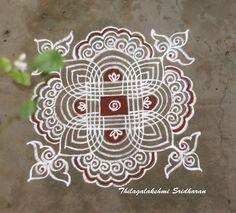 by Thilagalakshmi Sridharan Free Hand Rangoli Design, Small Rangoli Design, Rangoli Kolam Designs, Rangoli Designs Images, Kolam Rangoli, Beautiful Rangoli Designs, Mehandi Designs, Mandala Design, Rangoli With Dots