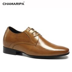 159.00$  Know more - http://ai3zf.worlditems.win/all/product.php?id=32794910405 - CHAMARIPA Increase Height 7cm/2.76 inch  Elevator Shoes Genuine Leather Dress Shoes Make Men Look Taller
