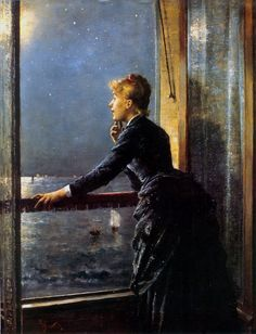 Alfred Stevens The Milky Way Oil Painting Reproductions for sale Alfred Stevens, James Ensor, Art Ancien, Manet, Portraits, Window Art, Roof Window, Victorian Art, Nocturne