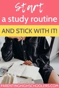 A good study routine is important. Start a conversation now with your teen to make this next school year the best! Parenting Teens, Parenting Quotes, Study Skills, Life Skills, Apply For College, Good Study Habits, Schools First, Back To School Supplies, Do Homework