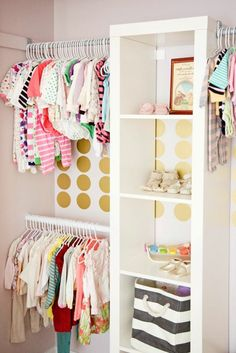 ranger le garde-robe de votre bébé