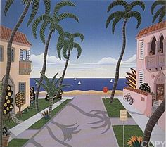 """North Ocean Boulevard"" from Palm Beach Suite by Thomas McKnight"