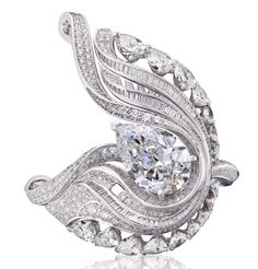 De Beers The Embrace ring.