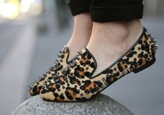 to do when my leopard skin flats loose their edge - gun metal grey would look hot.