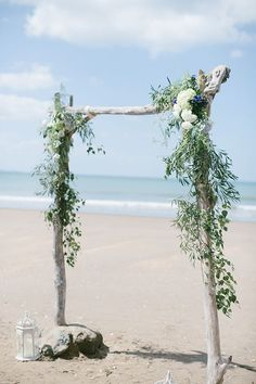 greenery beach wedding arch beach wedding 20 Breathtaking Beach Wedding Ceremony Ideas for 2019 - Oh Best Day Ever Wedding Arch Greenery, Wedding Ceremony Arch, Beach Wedding Reception, Beach Wedding Flowers, Beach Ceremony, Beach Wedding Decorations, Ceremony Decorations, Outdoor Ceremony, Wedding Themes