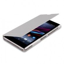 Xperia Z1 Made for Xperia Leader Tasche - Book Case carbon Silver  18,99 €