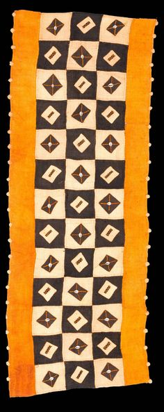 Africa   Kuba cloth from the DR Congo   Raffia and vegetable dye