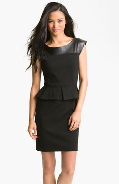 black sheath dress with leather - Google Search