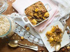 Crumble gourmand pomme-figue aux flocons d'avoine et de sarrasin
