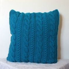cable knit pillow - etsy