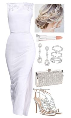 Untitled #4143 by natalyasidunova on Polyvore featuring polyvore, мода, style, Gianvito Rossi, Swarovski, Eliot Danori, Maybelline, RALPH & RUSSO, fashion and clothing