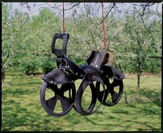 A #recycled tyre motorbike swing - would definitely appeal to any child