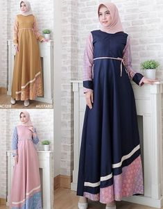 32 best ideas for long dress casual pakistani Black Dress Outfits, Casual Dresses, Fashion Dresses, Fashion Clothes, Dress Batik Kombinasi, Classy White Dress, Hijab Dress Party, Hijab Outfit, Bright Pink Dresses