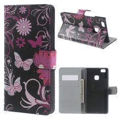 Köp Plånboksfodral Huawei P9 Lite svart fjäril online: http://www.phonelife.se/planboksfodral-huawei-p9-lite-svart-fjaril