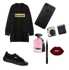 """""""Fancyyy"""" by maria-mnatsakanyan ❤ liked on Polyvore featuring Alexander Wang, Puma, Victoria's Secret, Givenchy and Lime Crime"""