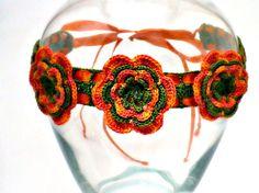 Crochet Necklace Irish Lace Crochet Flower by Nothingbutstring