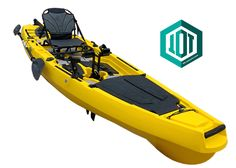 Fishing pedal fin drive kayak from Leisure kayaks Pedal Kayak, Kayaks, Cleats, Fishing, Yellow, Shoes, Football Boots, Zapatos, Cleats Shoes