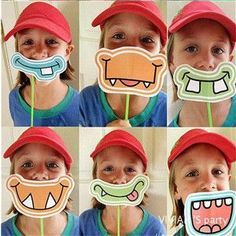 Party Favors Funny Mustache Paper Photo Booth Props For Kids Birthday Party Decoration Photobooth Props Kids Toys Monster Birthday Parties, Birthday Party Favors, Birthday Games, Funny Birthday, Monster Party Games, Birthday Decorations, Mustache Pictures, Monster Face, Baby Girl Birthday