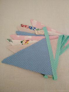 Fabric bunting handmade