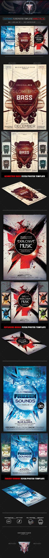 Electro Music Flyer Bundle Vol 29 Music flyer, Electro music - music flyer