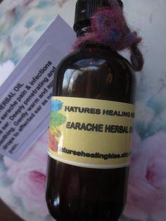 EARACHE HERBAL OIL deeply penetrating by NaturesHealingKiss, $4.50