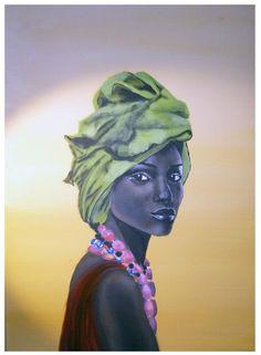 lady - acrylic paint on canvas, A2