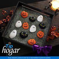 Piedras decorativas para Halloween.   Convierte unas piedras de ornato en una original decoración para tu mesa. Es muy fácil. En Walmart SIEMPRE encuentras TODO y pagas menos.