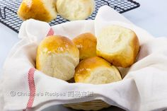 Butter Buns from Christine's Recipes - doubled recipe and baked 4x4 in sq pan. bake for a full 25 mins next time. Delis!