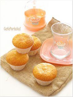 CAFE PORTAKAL: Çilekli Pudingli Muffin
