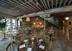Love the look & feel of this place: Rosemary's, An Italian Restaurant With a Rooftop Farm - Eater Inside - Eater NY