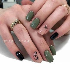 Image about girl in Nails / Nail Polish / Vernis / Manicure by Mouna DramaQueen Almond Shape Nails, Almond Nails, Nail Polish, Instagram Nails, Instagram Ideas, Green Nails, Black Gel Nails, Green Nail Art, Gold Nail