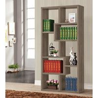 Put your favorite novelists on display or store important documents with the Coaster Furniture Weathered Gray Bookcase . This wooden bookcase, finished. Cube Bookcase, Wooden Bookcase, Etagere Bookcase, Bookshelves, Ladder Bookcase, Ladder Desk, Bookcase Storage, Wood Shelf, Cube Storage