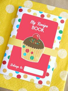 Printable Baking Birthday Recipe Book Party favors! So cute!