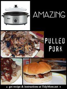 Amazing Pulled Pork Recipe at TidyMom.net