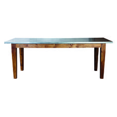 Metal top workstation table by Danish brand House Doctor. House Doctor, Dining Bench, Dining Room, Wishing Well, Deco Design, Dinner Table, Wood And Metal, Entryway Tables, Interior Design