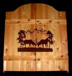 Bull-Elk-Saloon-Cafe-Swinging-Doors-Western-Cabin-Rustic-Decor
