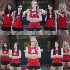 Cute volleyball team poses #volleyball #team #photography #poses