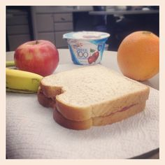 Eating lunch early, forgot to set the clock back. #daylightsavings #peanutbutterjellytime #yoplait #HappyMonday