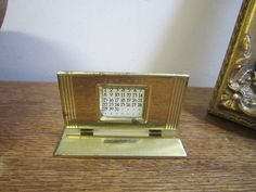 Vintage Brass Slide Perpetual Calendar. Desk Calendar. Desk Perpetual Calendar. Year. Month to view Calendar. by ontherebound on Etsy