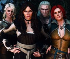 I& a big fan of Witcher games and books. My favorite character is Triss Merigold, but I& a sucker. Triss Merigold Witcher 3, The Witcher Geralt, Witcher Art, Ciri, Witcher 3 Characters, Fantasy Characters, Female Characters, Witcher Wallpaper, The Last Wish