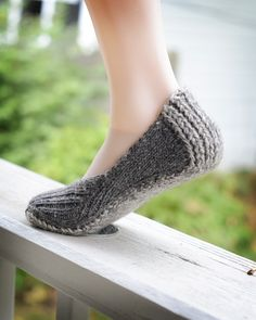 I'm totally going to have to knit these when the book comes out!! Smitten Slipper, by Hunter Hammersen