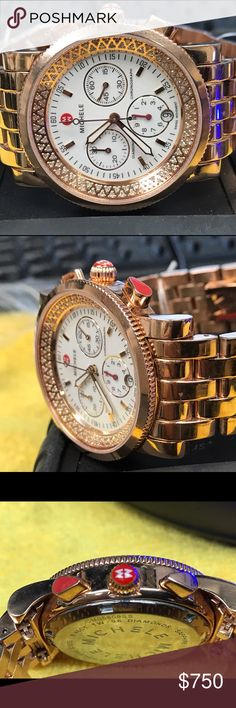 Michele rose gold women's watch This is  mint condition women's watch. Rose gold tone stainless steel. Chronograph. Watch looks amazing. Can be a beautiful gift for ur loving girlfriend, friend, wife, Daughter, friend. Or u can gift 🎁 yourself too. Michele Accessories Watches