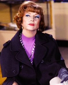 """Endora bewitching in purple. Agnes Moorehead unforgettable """"Endora"""" from """"Bewitched."""""""