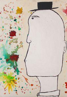 Hombre con Sombrero Acrílico sobre canvas (2008) Acrílico sobre madera (2010) Aerosol sobre canvas (2011)