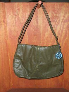 LP Linea Pelle for Target Olive Faux Pebble Leather Messenger Crossbody Bag  Lp e94b30157f651